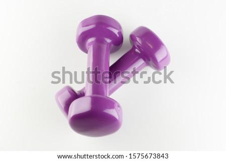 one kilogram purple dumbbell rubber coated