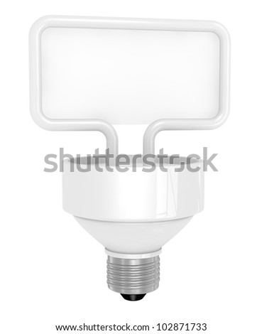 one light bulb with a balloon text for custom text (3d render)