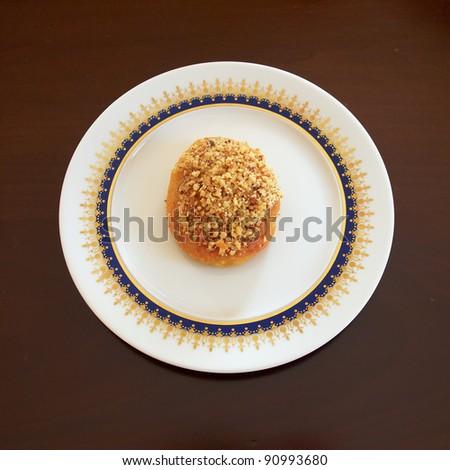one melomakarono, Greek Christmas honey and nuts tiny cake