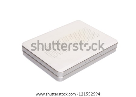 one modem router - stock photo