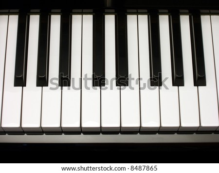 one octave of piano keys