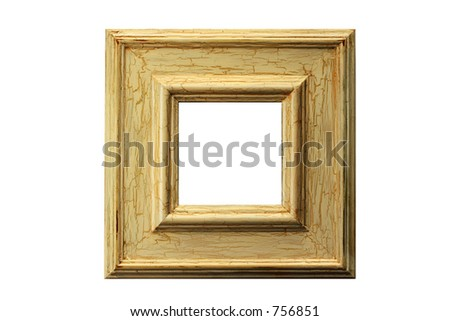 One of a series of rustic frames with distressed surface and exposed wood. Clipping paths included.