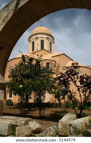 One of buildings of Monastery Agia Triada, Crete