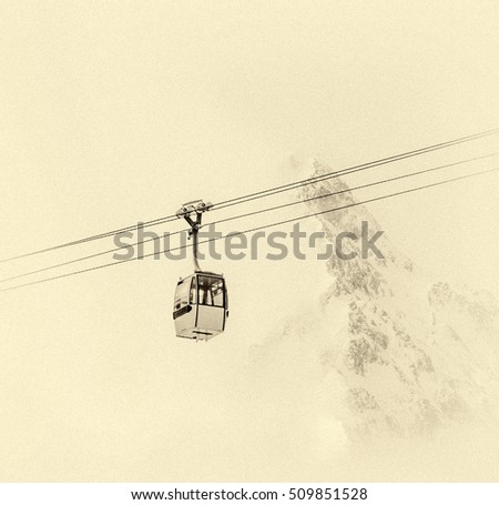 one of chair lifts in a ski...