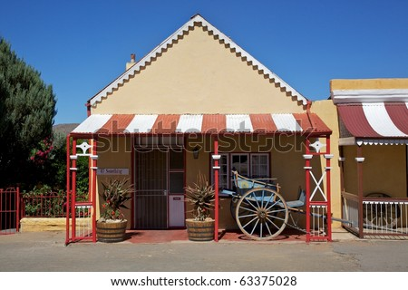 One of Die Tuyshuise, a collection of renovated craftsmen's houses situated in Cradock, in the Great Karoo, Eastern Cape, South Africa.