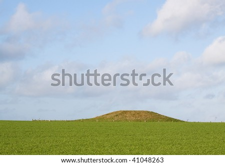 One of many neolithic and bronze age burial mounds scattered around the landscape of southern England