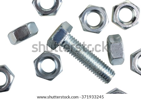 Shutterstock One of metal screw and nuts isolated on white background