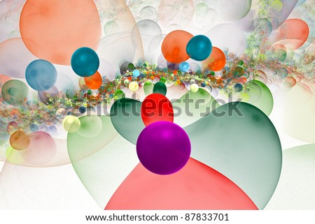 One of phases of development of a civilization in the next galaxy - stock photo