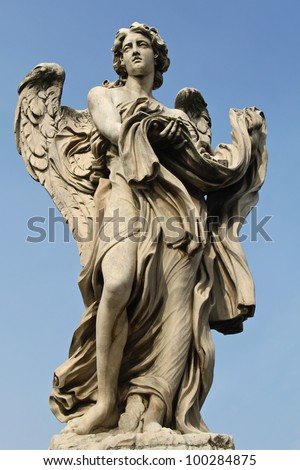 One of the angels at Castel Sant' Angelo in Rome, Italy.