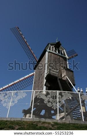 one of the beautiful wind mills of Brugge in Belgium