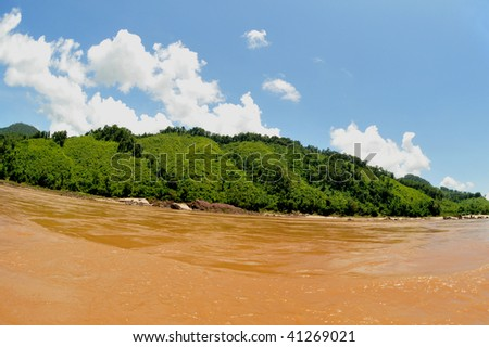 one of the best parts of the mekong river:the beautiful,stunning landscape between Houay Xai and luang prabang/laos.