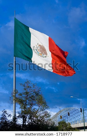 One of the big mexican flags found around the country.