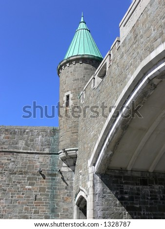 One of the gates in the walls of historic Quebec City.