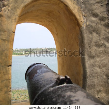 One of the many cannons at Fort Jesus Mombasa Kenya