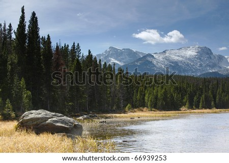 One of the Many Lakes in the Rocky Mountain National Park
