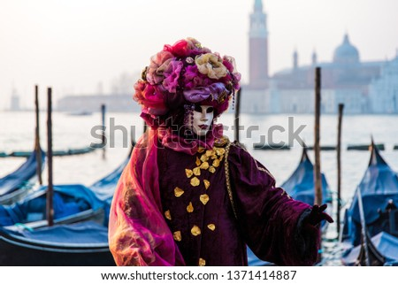 One of the many performers atr Venice's Carnival, its a real hot spot for photograhers and pousers #1371414887