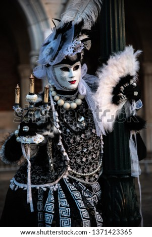 One of the many performers atr Venice's Carnival, its a real hot spot for photograhers and pousers #1371423365
