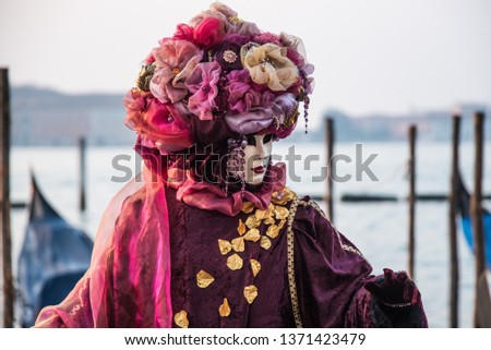 One of the many performers atr Venice's Carnival, its a real hot spot for photograhers and pousers #1371423479