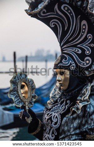 One of the many performers atr Venice's Carnival, its a real hot spot for photograhers and pousers #1371423545