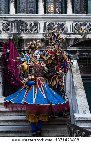 One of the many performers atr Venice's Carnival, its a real hot spot for photograhers and pousers #1371423608