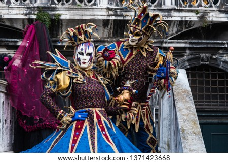 One of the many performers atr Venice's Carnival, its a real hot spot for photograhers and pousers #1371423668