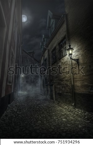 One of the many streets of the Old Tallinn.
