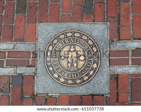 One of the Markers of The Freedom Trail, Boston, Massachusetts