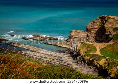 One of the most beautiful routes in the Basque Country is the so-called Flysch route, a route along the rugged coast that starts from Zumaia to Deba. #1534730996