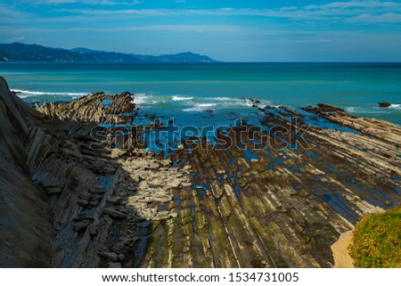 One of the most beautiful routes in the Basque Country is the so-called Flysch route, a route along the rugged coast that starts from Zumaia to Deba. #1534731005