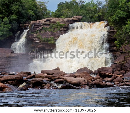 One of the most beautiful waterfalls of the of the Canaima national park - Venezuela, Latin America