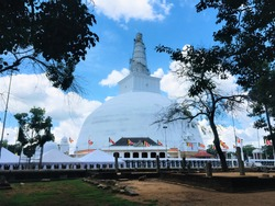 One of the most sacred place of Buddhists in Sri lanka known as Ruwanweli maha seya