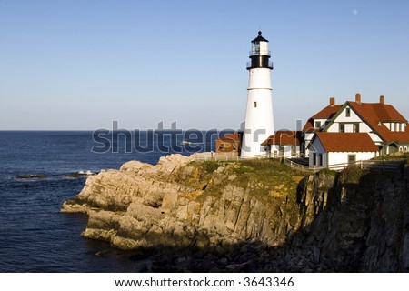 One of the oldest lighthouses on USA Atlantic coast, in Portland (Maine)