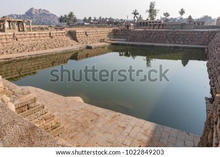 one of the water tanks, Hampi, Karnataka, India #1022849203