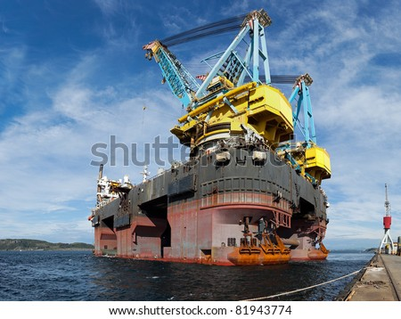 One of the world's largest floating crane vessel.