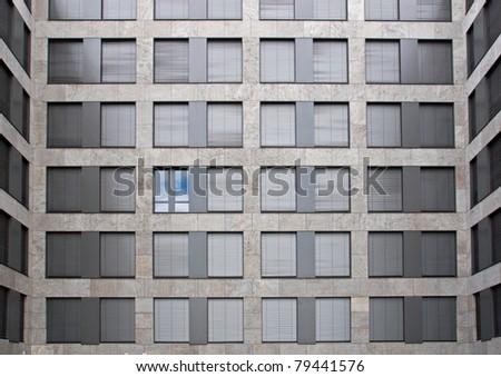 One open window showing blue sky