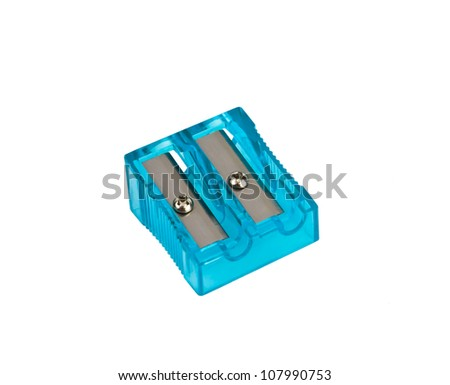one pencil sharpener on a over white background