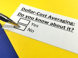 One person is answering question about dollar cost averaging.