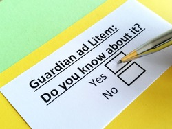 One person is answering question about guardian ad Litem.