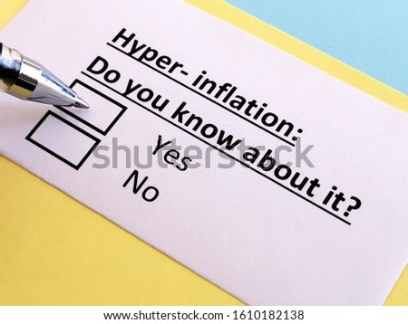 One person is answering question about hyperinflation.
