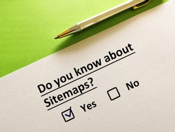 One person is answering question about online marketing. He knows about sitemaps