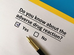 One person is answering question about vaccines. He knows about adverse drug reaction.