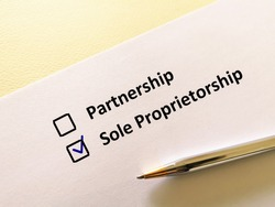 One person is answering question. He chooses sole proprietorship.