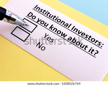 One person is answering question relating to institutional investors.
