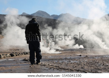 one person on the Chile's geyser