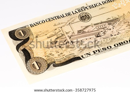One peso oro bank note of the Domenican Repulic made in 1988 #358727975