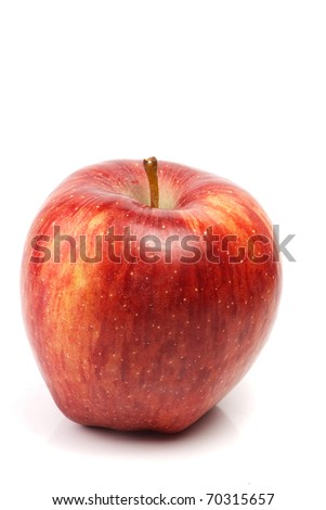 one red apple - stock photo