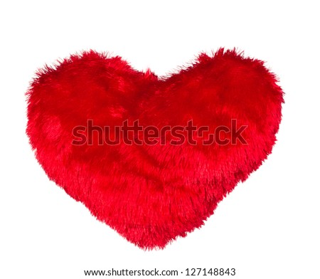one red hearts for Valentine's Day