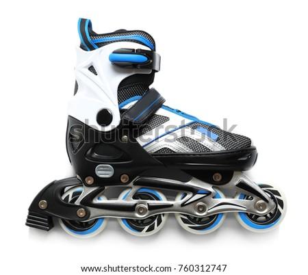 One roller skate, isolated on white