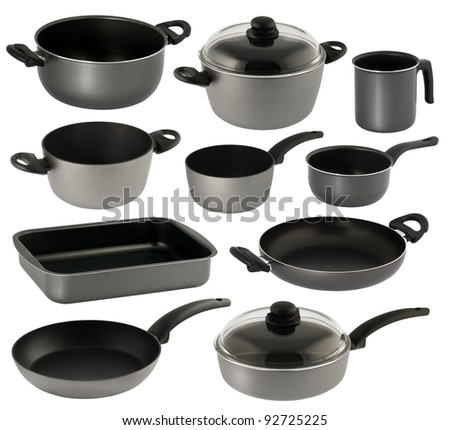 one set of cookware in different sizes and for different uses