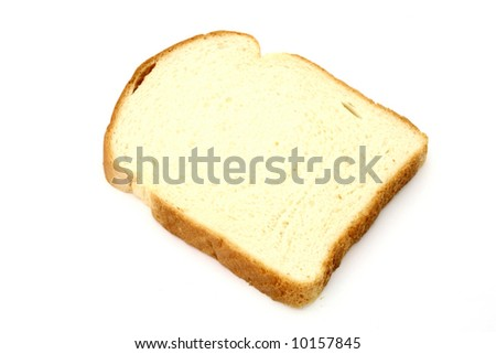 one slice of bread over a